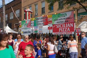 Feast of the Assumption festival on Mayfield Road in Cleveland's Little Italy.